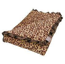 Test Trend Lab Berry Leopard Ruffle Trimmed Receiving Blanket Kid's