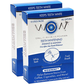 Quest Products WOW Oral Cleansing Powder - Wow Mint (20 Count)
