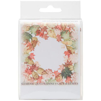 Rubber Stamp Tapestry SLE18006 5-Piece Mounted Rubber Stamp Set, Queen Annes Lace and Leaves 128063