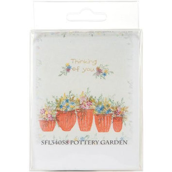 Rubber Stamp Tapestry SFL34058 5-Piece Mounted Rubber Stamp Set, Pottery Garden 488275