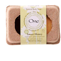 One Natural Body Soap, Sweet Honey, 1ct