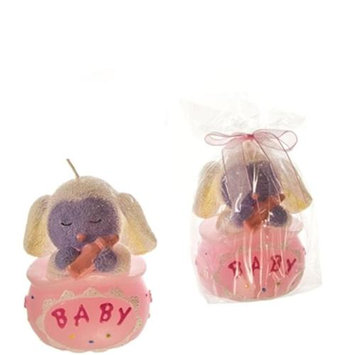 DDI 1765891 Baby Lamb Sitting in a Bag Candle - Pink