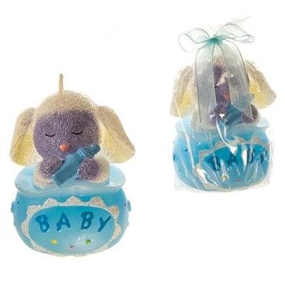 DDI 1765890 Baby Lamb Sitting in a Bag Candle - Blue