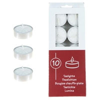 DDI 1489363 Unscented Tea Light Candles - White
