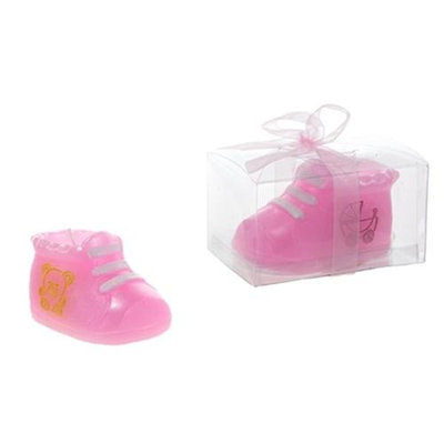DDI 1765882 Baby Bootie Candle - Pink