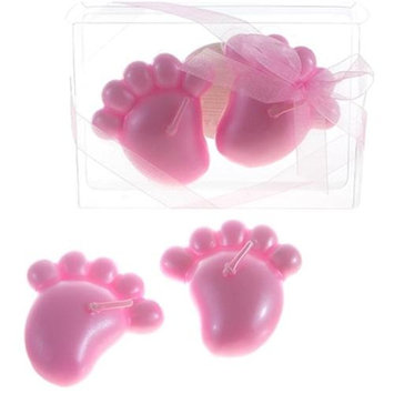 DDI 1765889 Baby Footprints Floating Candle - Pink