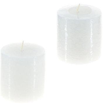 DDI 1756865 Round Unscented Pillar Candle - White