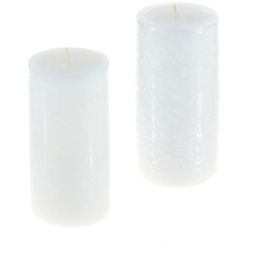 DDI 1756867 Round Unscented Pillar Candle - White