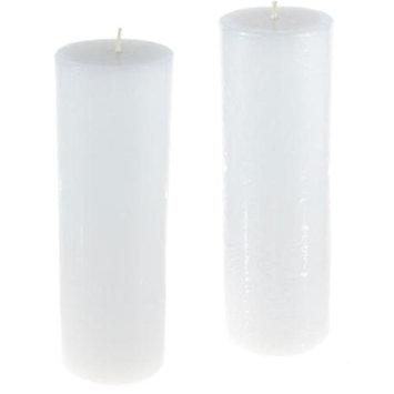 DDI 1756869 Round Unscented Pillar Candle - White