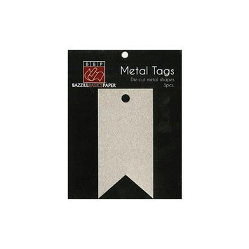 Bazzill MT30-0624 Metal Tags 3-Pkg-Banner Tags