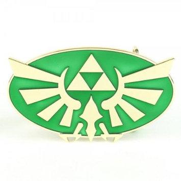 Bioworld Nintendo Zelda Green/Gold Triforce Belt Buckle