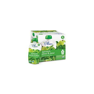 Plum Organics Spinach Peas & Pear Baby Food (4 oz, 10 Pouches)
