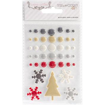 Teresa Collins Tinsel & Company Adhesive Enamel Dots & Shapes 40/Pkg