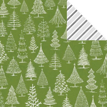 Teresa Collins Candy Cane Lane Double-Sided Cardstock 12