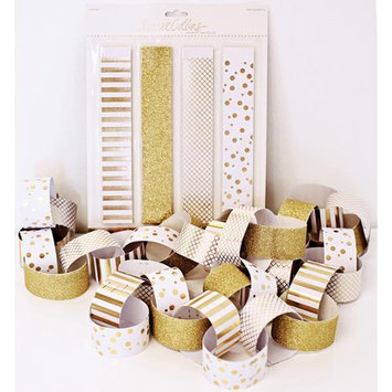Teresa Collins Studio Gold Foiled Banner Kit 40/Pc-Paper Chain