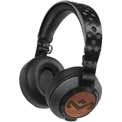 House of Marley Liberate XLBT Bluetooth Wireless Over-The-Ear Headphones - Midnight