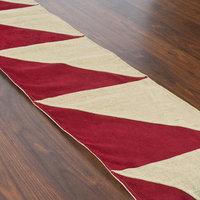 Chooty & Co. Crimson Triangle Pieced Runner (1' x 5'6)