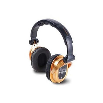 FIRST AUDIO MANUFACTURING EDJ500GOLD Professional Headphones from World Famous DJ Chris Garcia - Gold Edition
