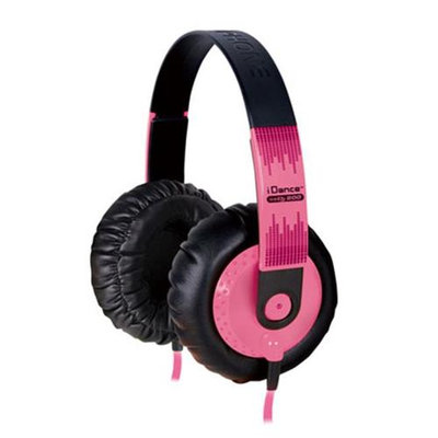 IDANCE SEDJ800 Thick Padded Headphones - Pink - Black