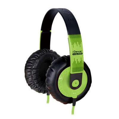 IDANCE SEDJ500 Thick Padded Headphones - Green - Black