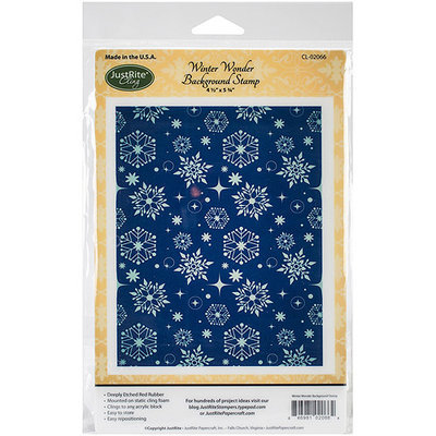 JustRite Papercraft Cling Background Stamp 4.5