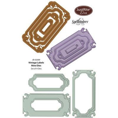 Justrite Papercraft JustRite Custom Dies 4/Pkg-Vintage Labels 9