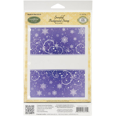 JustRite Stampers Cling Background Stamp 4-1/2'X5-3/4