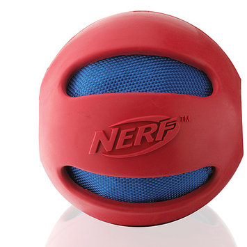 Little Gifts, Inc. Nerf Dog Rubber Crinkle Ball Dog Toy Red