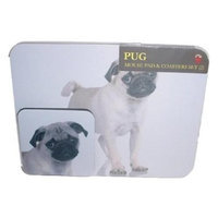 little Gifts 846998083034 MOUSE PAD AND COASTER SET PUG