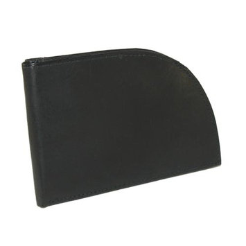 Brookstone Men's Leather Front-Pocket Wallet (Black)