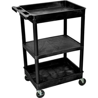 Luxor Stc212-G 3 Shelf Tub Cart