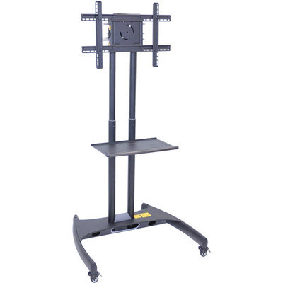 H Wilson Adjustable Stand Cart For 32 - 60 Flat Panel LED LCD TV With Shelf