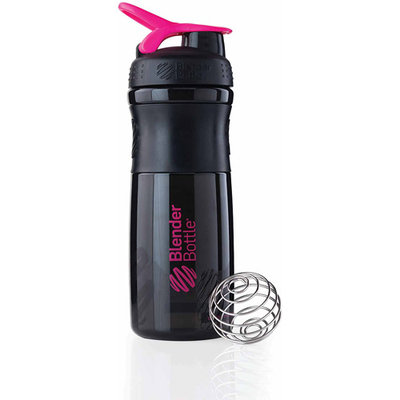 Blender Bottle SportMixer 28 oz. Tritan Grip Shaker - Black/Pink