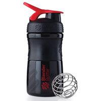 Blender Bottle - SportMixer Tritan Grip Black/Red - 20 oz. By Sundesa
