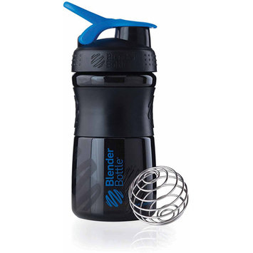 Blender Bottle - SportMixer Tritan Grip Black/Blue - 20 oz. By Sundesa