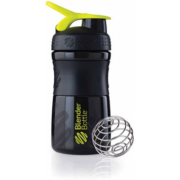 Blender Bottle - SportMixer Tritan Grip Black/Green - 20 oz. By Sundesa
