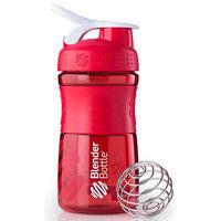 Blender Bottle - SportMixer Tritan Grip Red/White - 20 oz. By Sundesa
