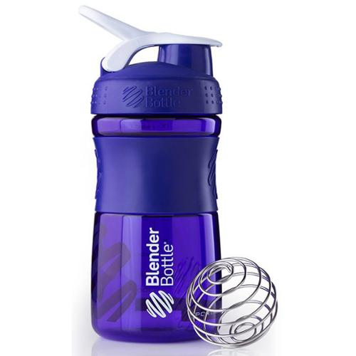 Blender Bottle - SportMixer Tritan Grip Purple/White - 20 oz. By Sundesa