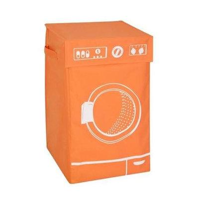 Honey Can Do Orange Graphic Hamper Washing Machine With Lid
