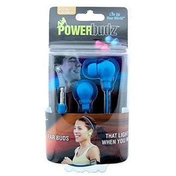 4id PWR-BudzB PowerBudz - Light up Headphones Blue