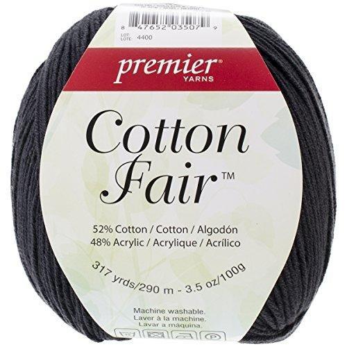 Premier Yarns NOTM445776 - Premier Cotton Fair Black Yarn