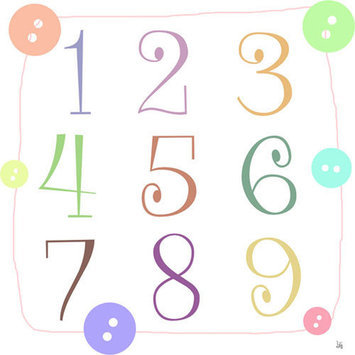 Green Leaf Art Whimsy Alphabet & Numbers Canvas Wall Art