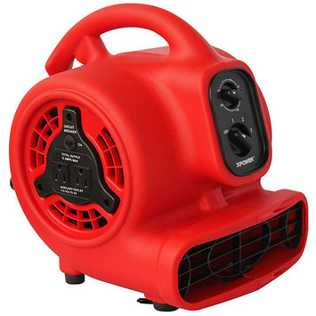 Xpower P-200AT Mini Air Mover/Dryer-PP-Red