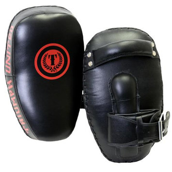 Triumph United Curved Leather Muay Thai Pads - Black