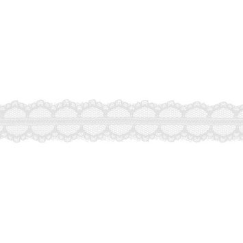 May Arts 390-1-01 Lace 1 in. X25 Yards-White