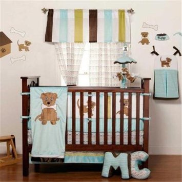 One Grace Place 10-33102 Puppy Pal Boy Baby 4 Piece Crib Bedding Set