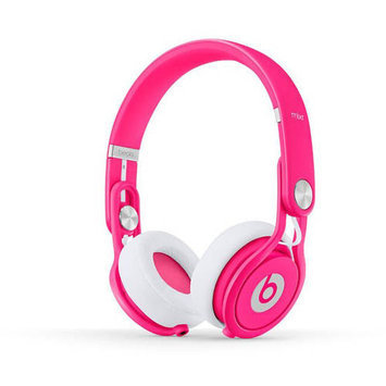 Beats By Dr Dre Mixr Headphones - Neon Pink, Pink