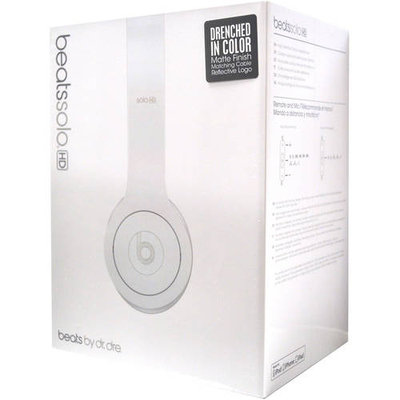 Beats by Dre Solo Over-Ear Headphones - Monochrome White.