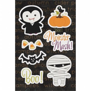 Imaginisce Monster Mash Canvas Stickers 4.75 X7