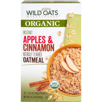 Wild Oats Marketplace Organic Instant Apples & Cinnamon Oatmeal, 1.41 oz, 10 count